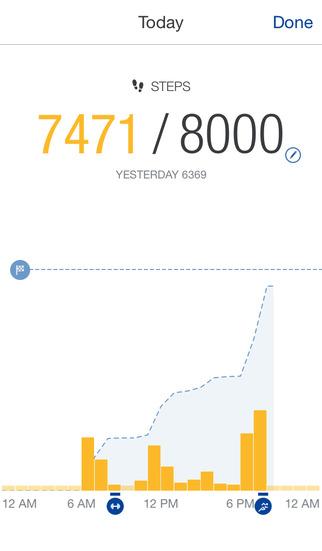 Runtastic Me - Step Tracker & Counter screenshot 2