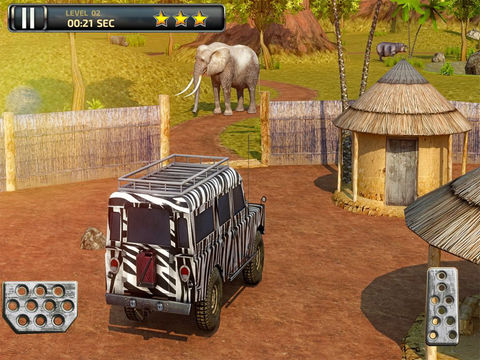 3D Safari Parking Free - Realistic Lion, Rhino, Elephant, and Zebra Adventure Simulator Games screenshot 6