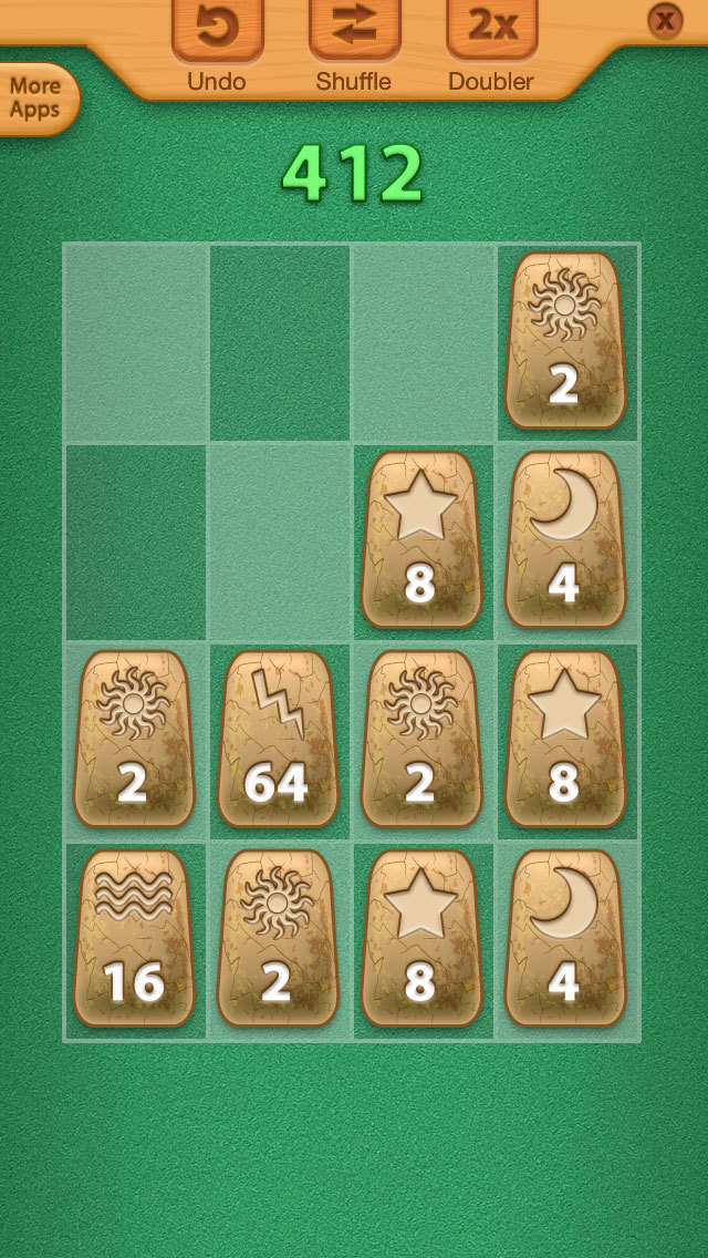 2048 Aztec Rune Stones Mini Puzzles screenshot 5