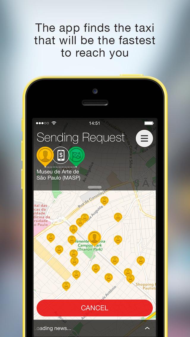 Easy Taxi, a Cabify app screenshot 2