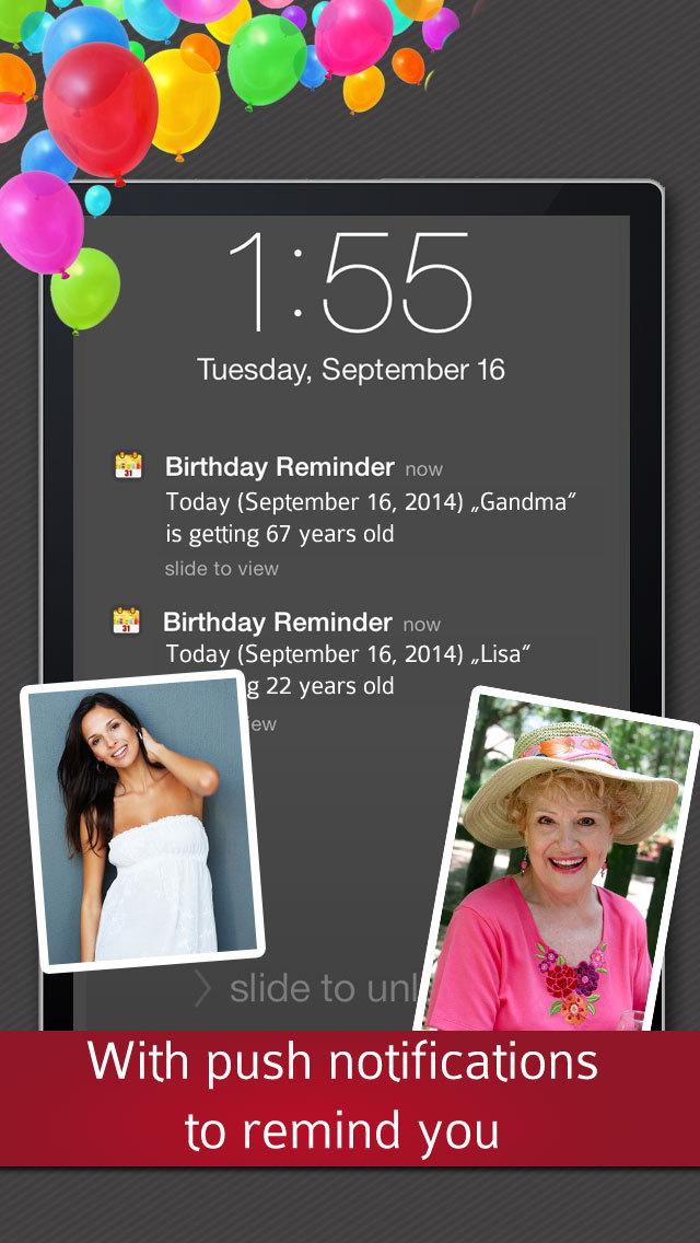 Birthday Reminder - Calendar and Countdown screenshot 4