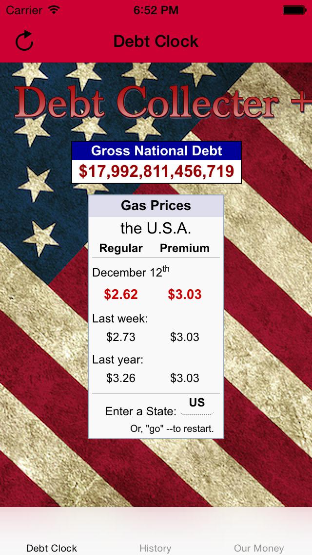 USA Debt Clock screenshot 1