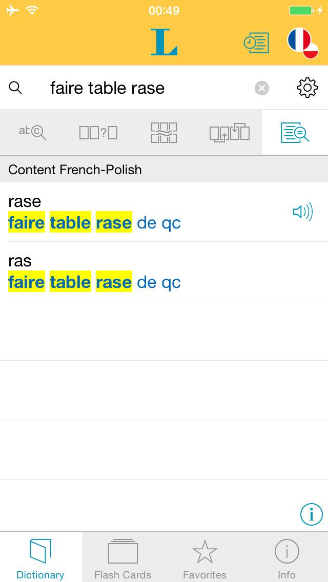 Słownik CLASSIC polsko <-> francuski screenshot 2