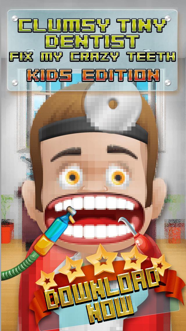 Aaah! Clumsy Tiny Dentist Fix My Crazy Teeth! - Kids Edition screenshot 1