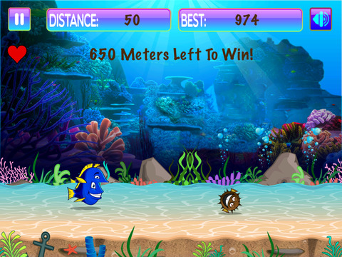 Super Dupa Blue Fish Scuba Run screenshot 2