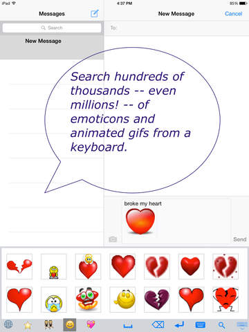Emoji emoticon & animated gif 3D search keyboard - náhled