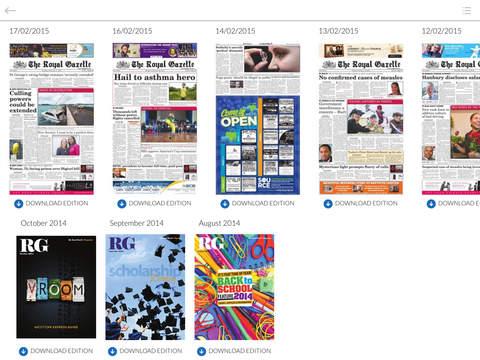 The Royal Gazette app - náhled