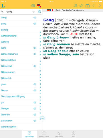 French <-> German Talking Dictionary Basic screenshot 6