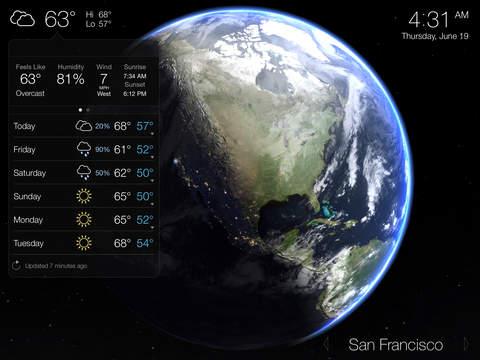Living Earth - Clock & Weather screenshot 5