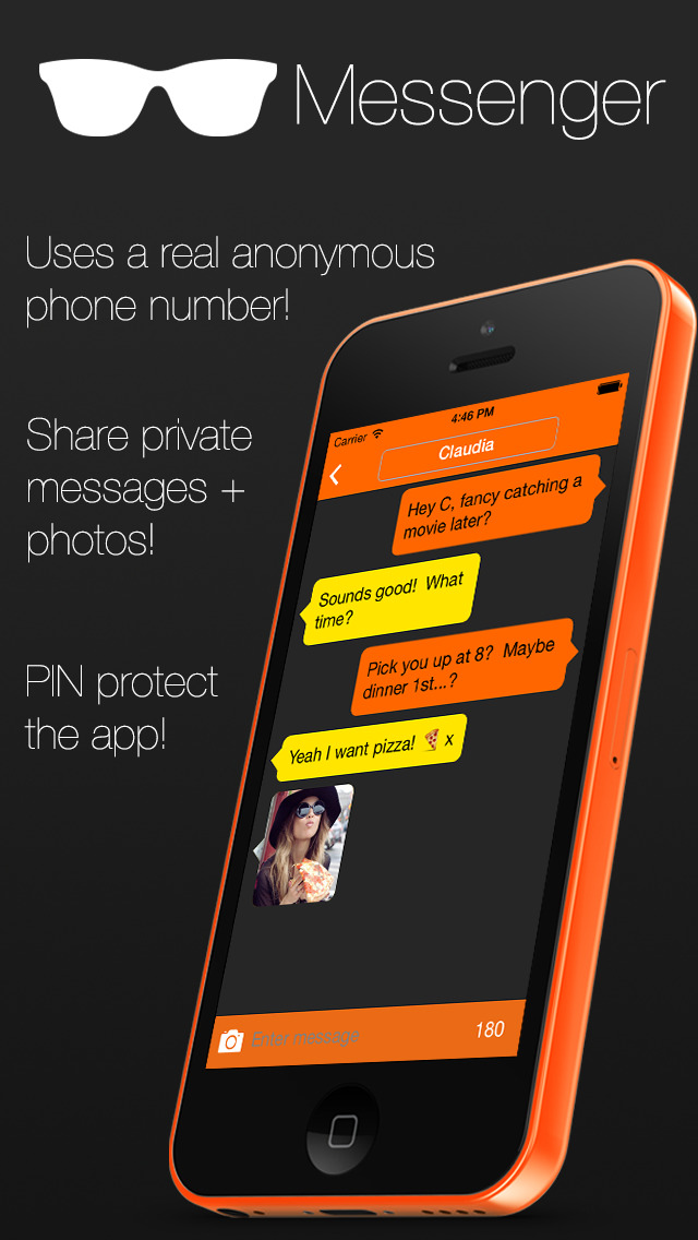 Secret Messenger - send real text & sms messages with a free