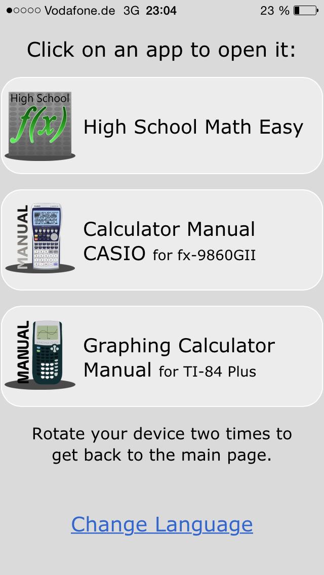 High School & College Apps Math - Manual for Graphing Calculators TI-84 Plus, TI-Nspire CX and CASIO fx-9860GII. screenshot 2