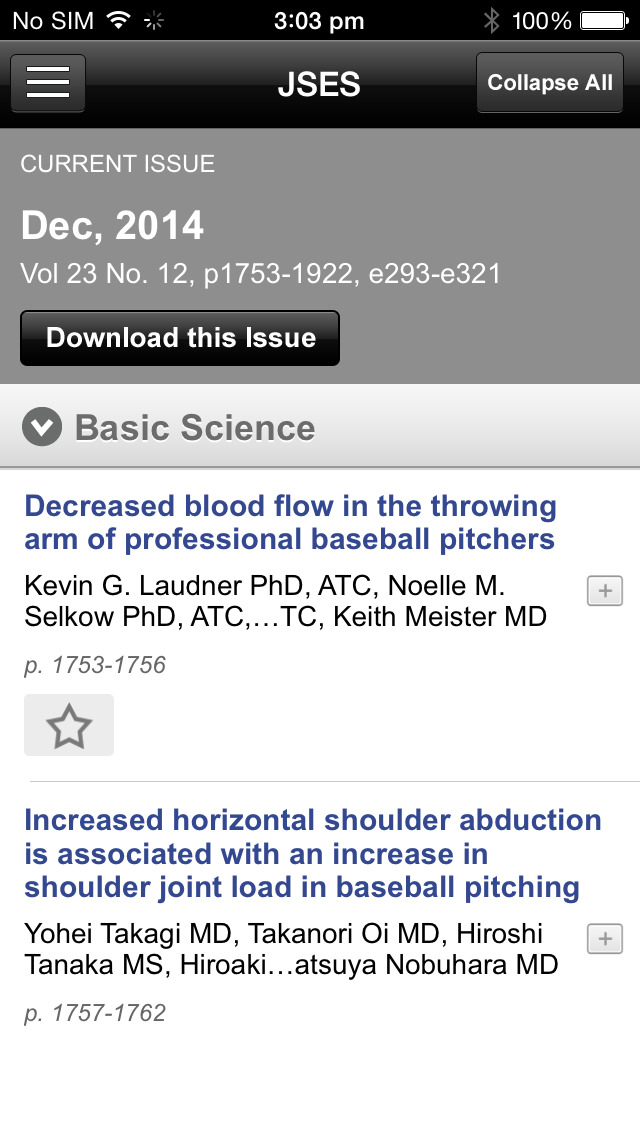 J Shoulder Elbow Surg (JSES) screenshot 5