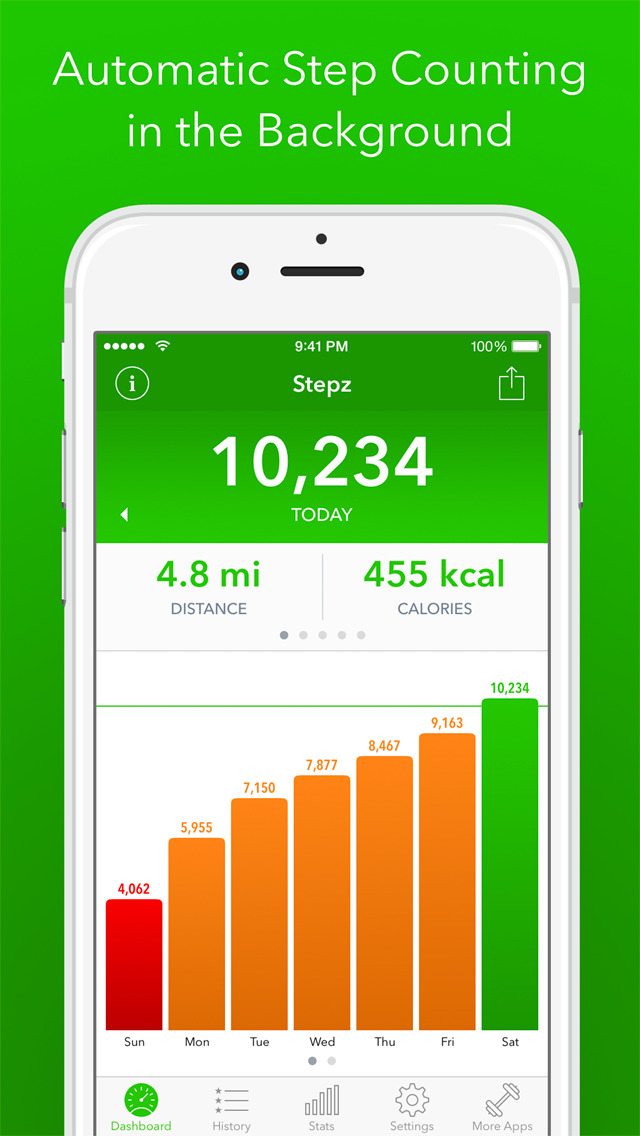 Stepz - Step Counter & Tracker screenshot 1