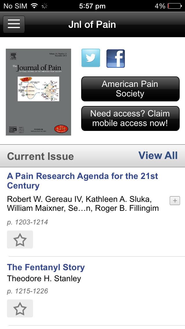 The Journal of Pain screenshot 3