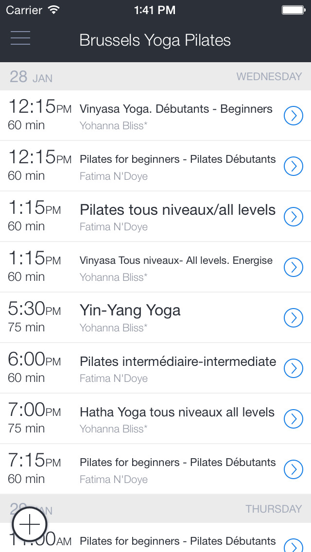 Brussels Yoga Pilates - BYP screenshot 1