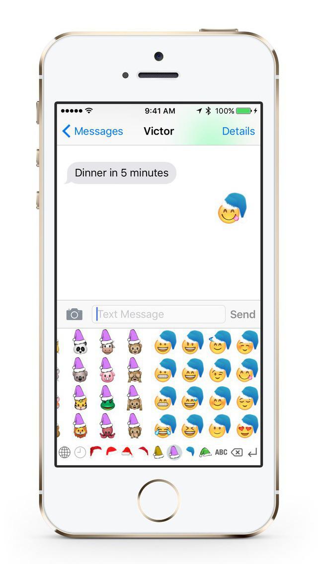 Christmas Emoji Keyboard screenshot 1