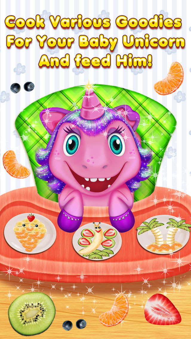 My Baby Unicorn Care – Dress Up, Bath, Feeding & Bed Time screenshot 2