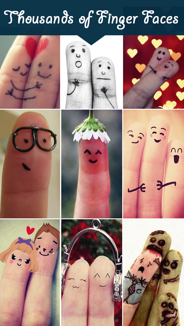 Cool Fingers Faces Paint Designs & Pictures Free screenshot 1