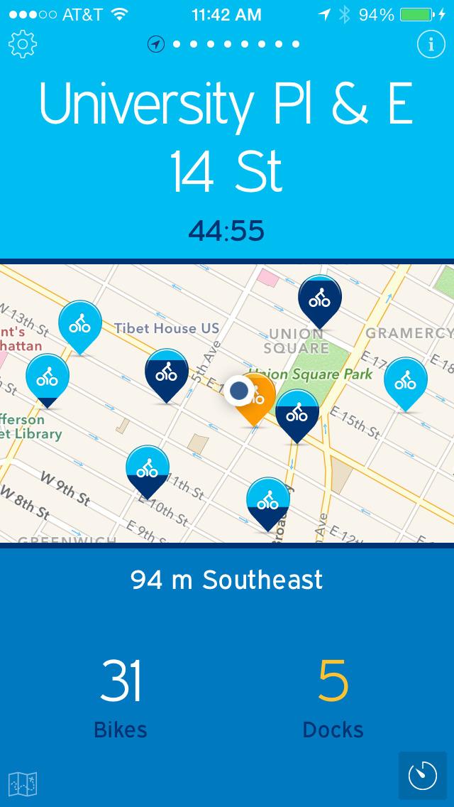 NYC Bikes — A One-Tap Citi Bike App screenshot 5