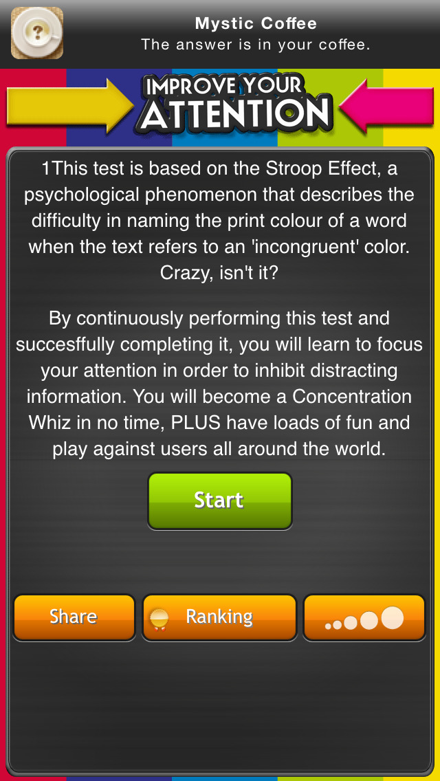 Improve your attention: test your reaction rate screenshot #2