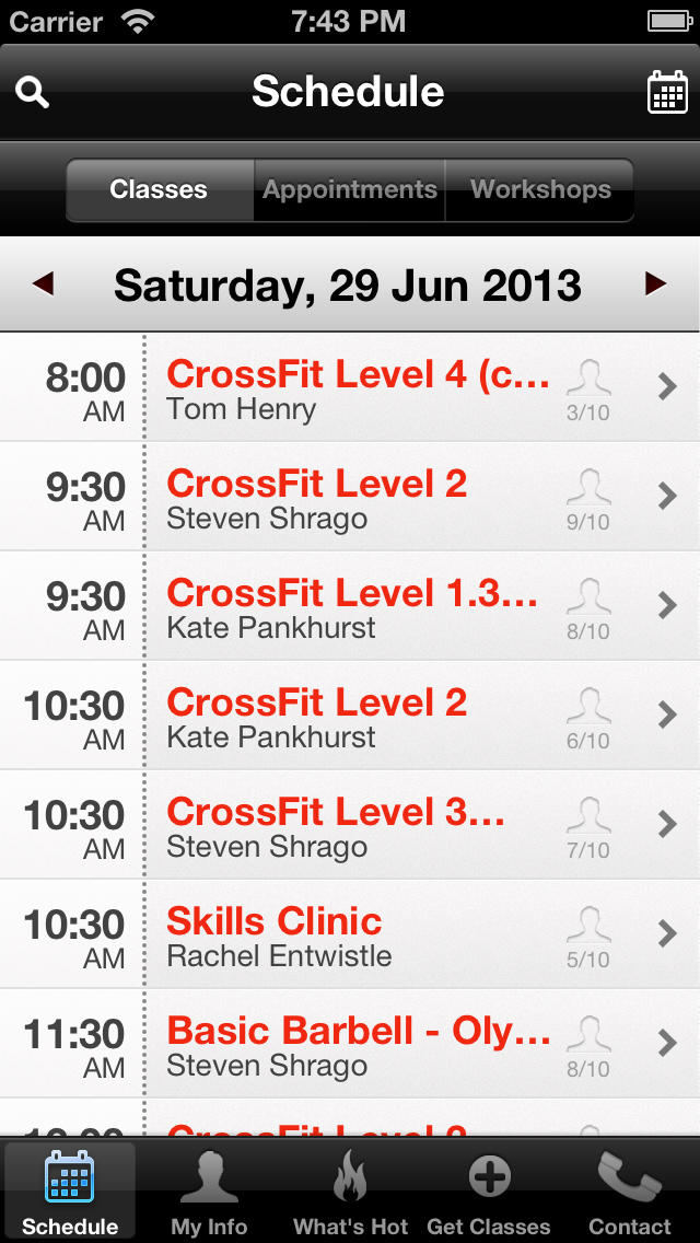 Blackboard Gym screenshot #2
