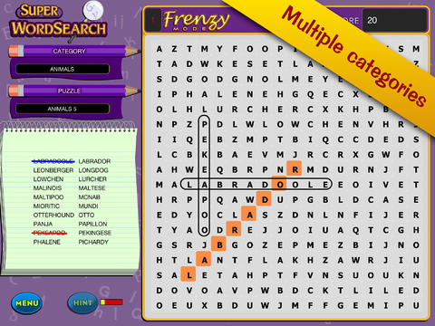 Super Word Search! - Seek and Find Puzzles screenshot 4