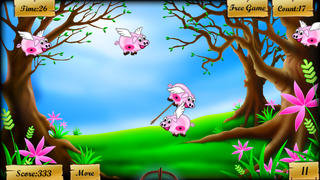 Kill the Flying Pigs - Funny shooting and hunting arcades game screenshot 2