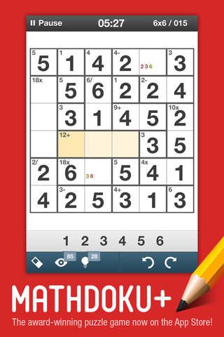 Mathdoku+ Sudoku Style Math & Logic Puzzle Game - náhled