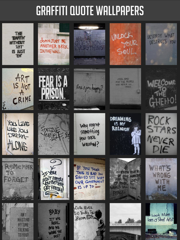 Graffiti Quote Wallpapers screenshot 2