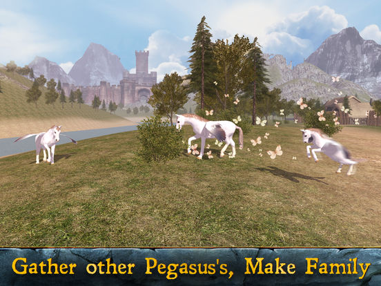 Flying Pegasus: Magic Horse Simulator 3D Full screenshot 6