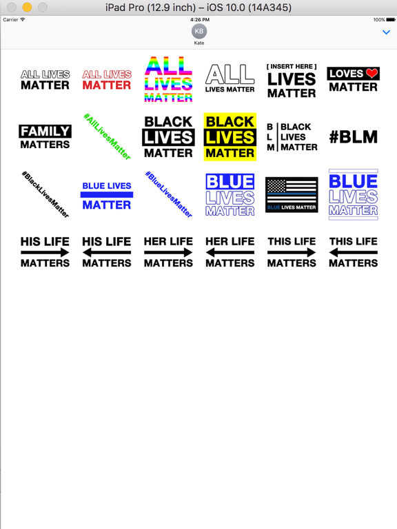 All Lives Matter Stickers screenshot 4
