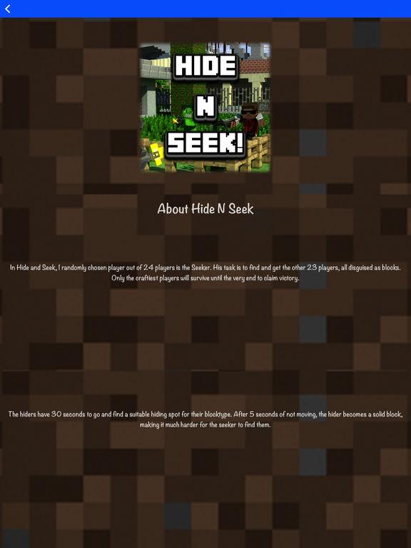 Hide N Seek - Best Maps for Minecraft Pocket MCPE screenshot 6