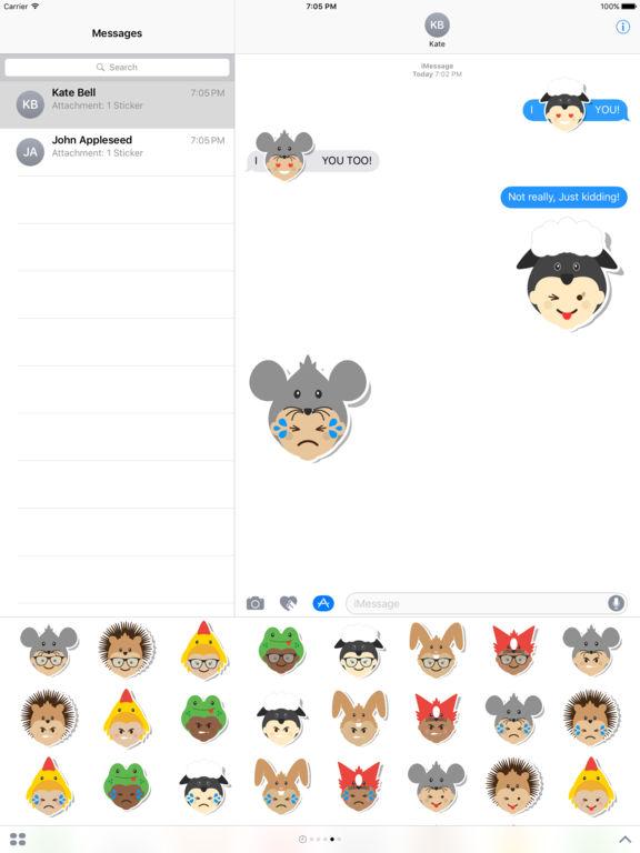 Ibbleobble Face Stickers for iMessage screenshot 8