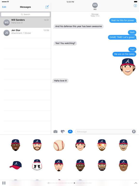 Atlanta Braves 2016 MLB Sticker Pack screenshot 3