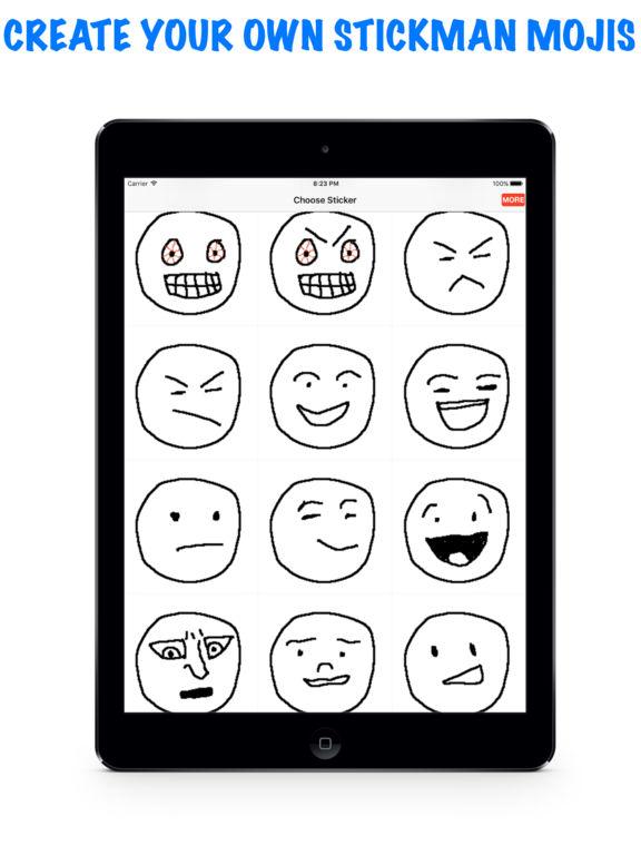 Stickmoji Maker -custom stickman emoji builder for texting