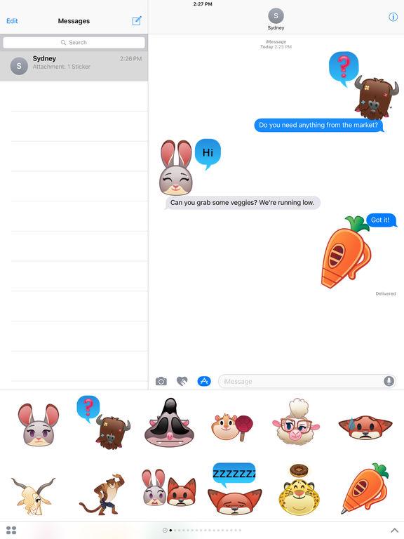 Disney Stickers: Zootopia screenshot 8