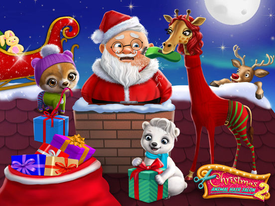 Christmas Animal Hair Salon 2 Crazy Santa Makeover screenshot 6