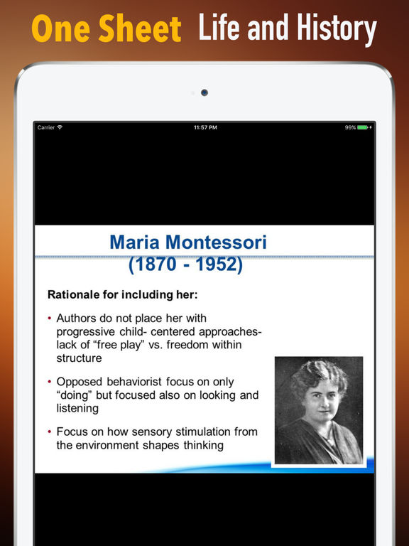 Biography and Quotes for Maria Montessori screenshot 7