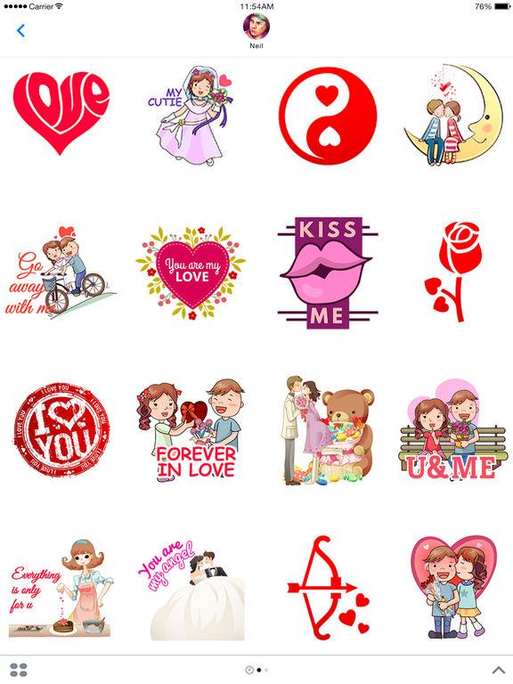 Lovemoji - Love emoji for iMessage Stickers screenshot 4