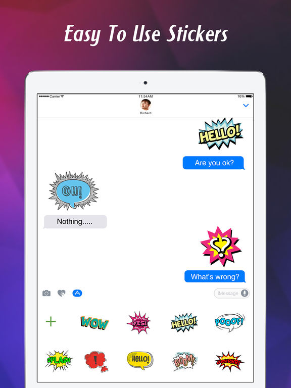 Stickers for iMessage & texts screenshot 9