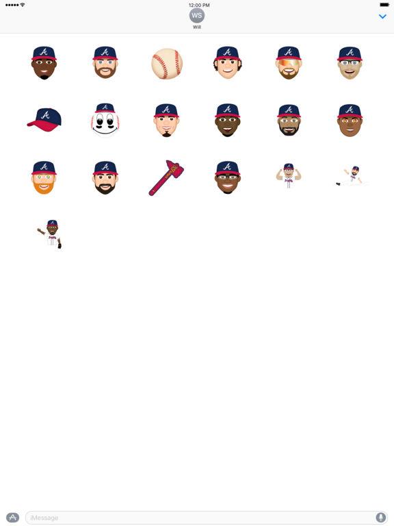 Atlanta Braves 2016 MLB Sticker Pack screenshot 4