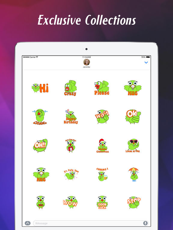 Stickers for iMessage & texts screenshot 10