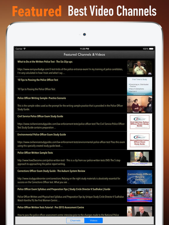 Police Officer Exam:Study Guide and Courses screenshot 8