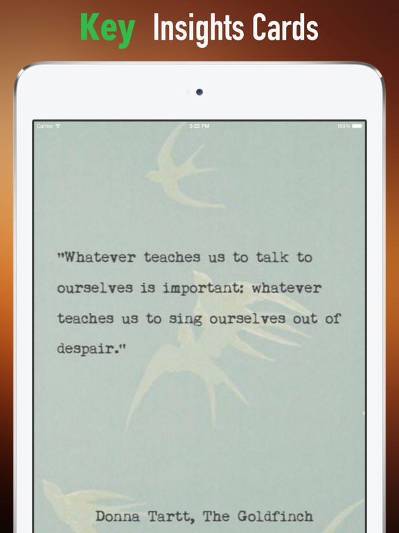 The Goldfinch: Practical Guide Cards with Key Insights and Daily Inspiration screenshot 9