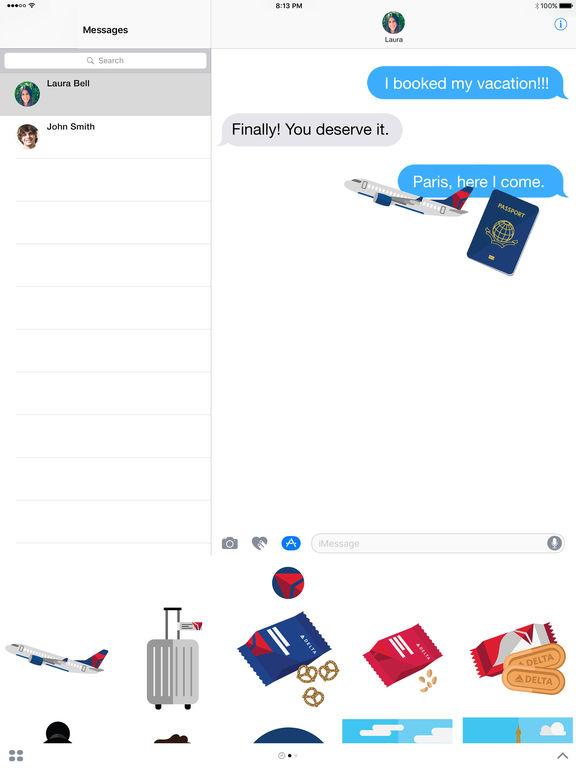 Delta Travel Stickers screenshot 4