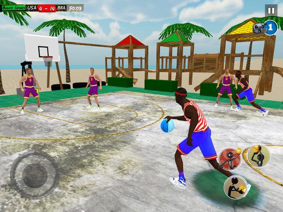 Beach Basketball 2k17: NBA slam dunk hoops trainer screenshot 8
