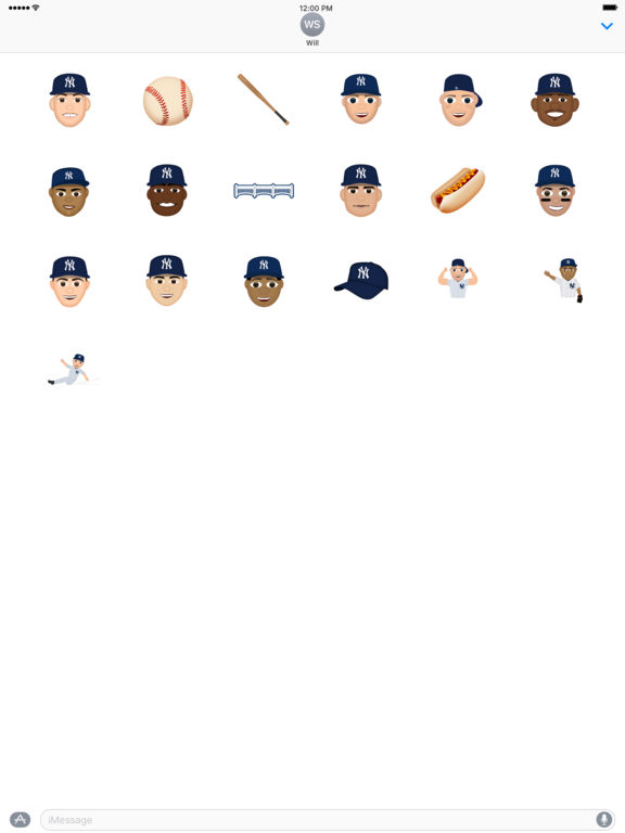 New York Yankees 2016 MLB Sticker Pack screenshot 3