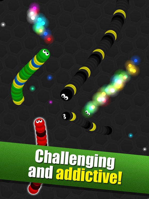 Crazy Wiggle.Io - Glowing Slither Unlocked Version screenshot 8