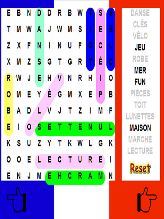 French Word Search - Language - 10 Levels screenshot 3