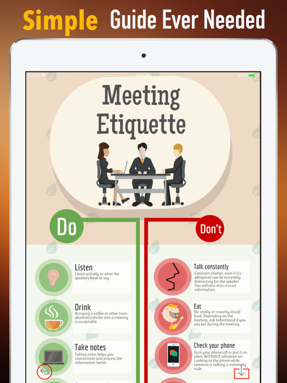 Meeting Etiquette Rules-Learning Guide and Tips screenshot 6